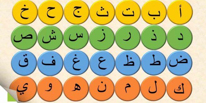 صورة حروف الابجدية العربية بالترتيب , اشكال الحروف لتعليم ابنك