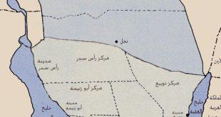 صورة خريطة جنوب سيناء بالتفصيل , تقسيمات سيناء علي الخريطه