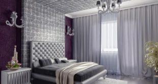 صور غرف نوم سلفر , اجمل تصميمات غرف النوم باللون السيلفر