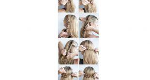 تسريحات شعر للبنات بالخطوات سهلة , اجمل اشكال تسريحات الشعر