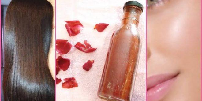 صورة هل ماء الورد مفيد للشعر , تالقى بشعر الحورية مع ماء الورد