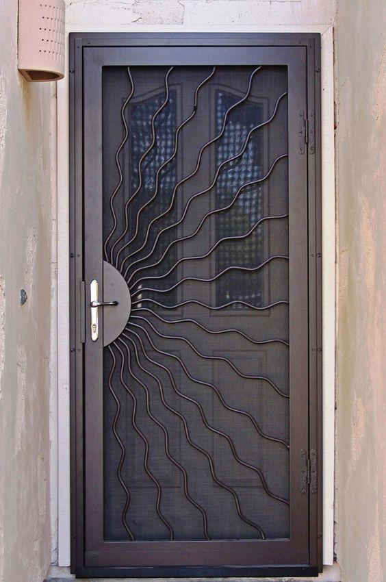 صورة احدث موديلات ابواب الحديد , تصاميم فريدة لابواب المنازل والفلل