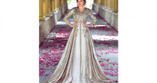 صور فساتين مغربية للاعراس , تالقى باشيك قفطان مغربى