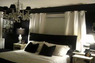 صور ديكورات غرف نوم باللون الاسود , سحر اللون الاسود فى غرف النوم