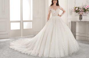 صورة اجمل فستان زفاف , الفساتين الجذابه لارق يوم زفاف