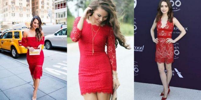 صورة فساتين قصيره دانتيل , ما اجمل تشكيلات الفساتين الدانتيل