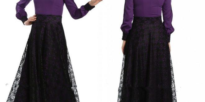صورة فساتين سواريه موف للمحجبات , ما اجمل تلك الفساتين