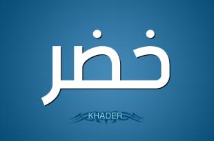 صورة معنى اسم لخضر , معانى الاسماء باللغه العربيه 3795 1 310x205