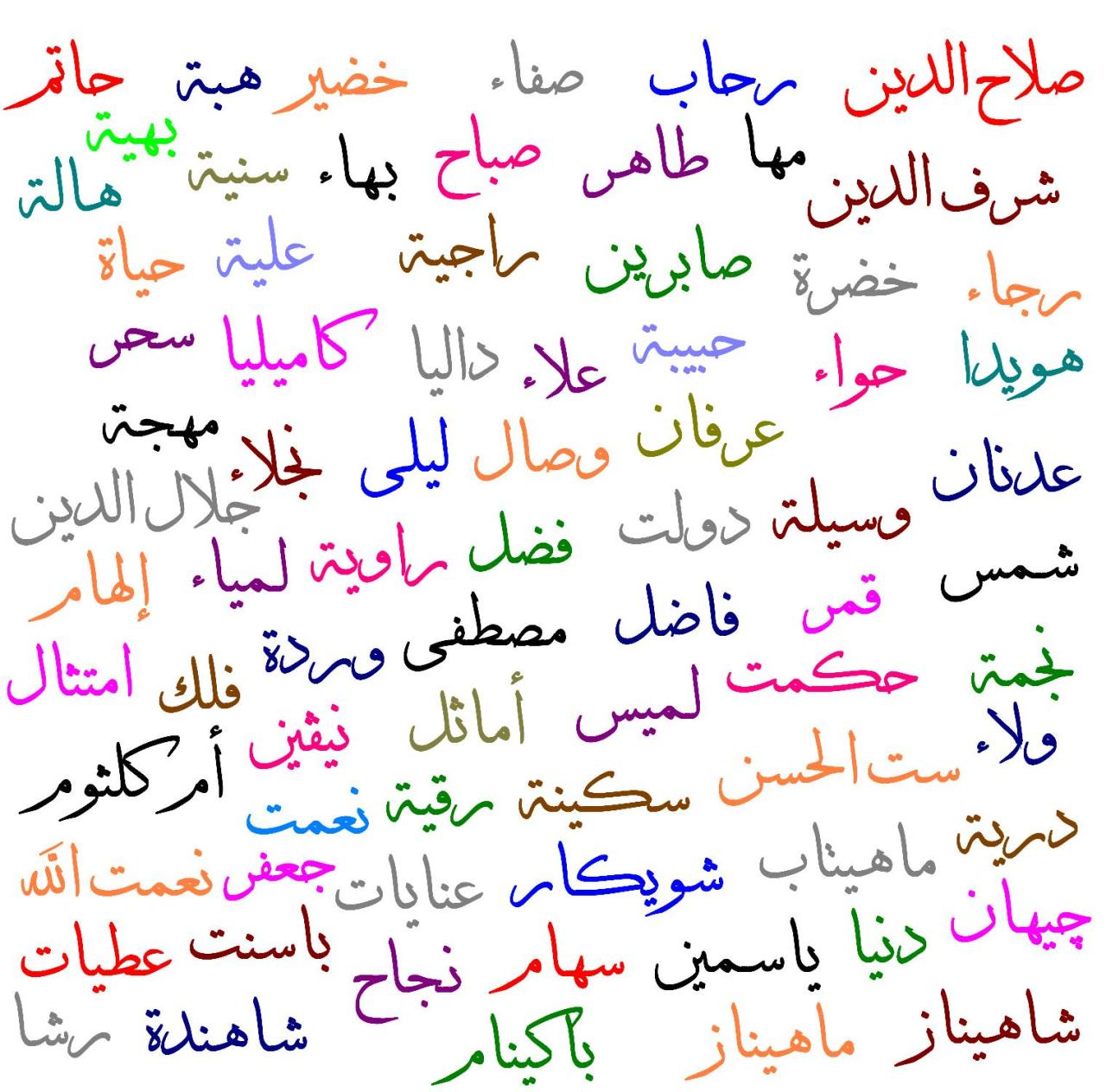 صورة اسماء و معاني , احلى الاسماء وتوضيح المعانى