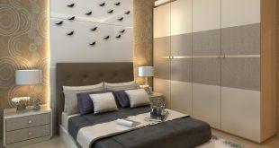 غرف نوم مودرن للمساحات الصغيرة , ديكور مميز وبسيط لغرف النوم الصغيره