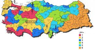 صورة خريطة محافظات تركيا , اهم المعالم فى تركيا