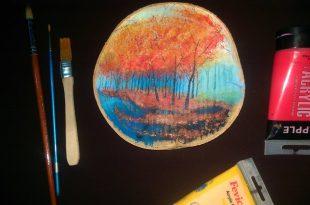 صورة الرسم على الخشب , ما اجمل هذه الوحات الفنية