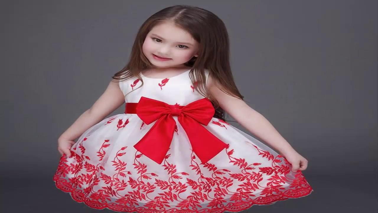 صورة اجمل فساتين اطفال للعيد , اجعلى طفلتك مميزه بهذه التصميم