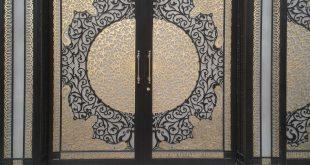 صورة ديكور ابواب حديد خارجيه , الابواب الحديديه باشكال مختلفه
